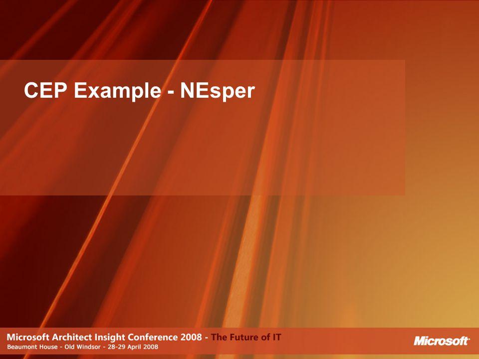 CEP Example - NEsper [JJ]